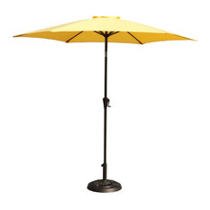 9' Pole Umbrella With Carry Bag and Base, Yellow