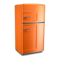 Big Chill Retro Fridge, Orange, With Ice Maker