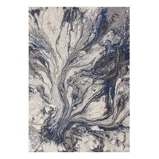 "Illusions Gray Watercolors Rug, 5'3""x7'7"""