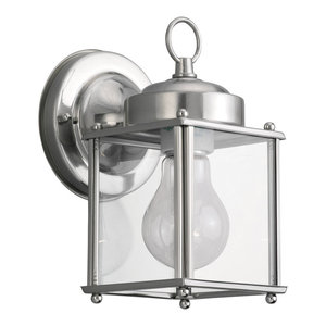 Nickel//Clear Glass 9231EW-80 Thomas Lighting 1 Light Outdoor Wall Sconce