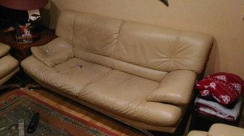 Réparation d'un canapé en cuir