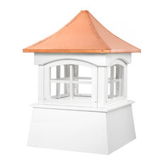 """Windsor Vinyl Cupola With Copper Roof, 18""""x27"""""""