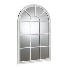 Fulshaw Window Wall Mirror With White Frame, 80x140 cm