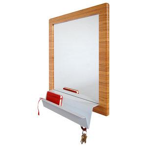 Minimal Modern Wooden Wall Mounted Device Storage Key Rack ...