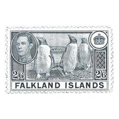 """Penguins"" Stamp Print, 54x84 cm"