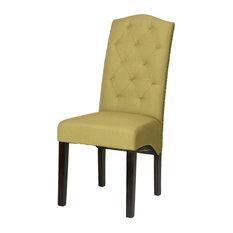 Perri Dining Chair, Citron Green Linen, Set of 2