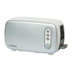 Seren Toaster Front Panel, Silver/Chrome