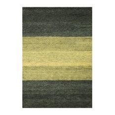 Baku Stripe Green Floor Rug, 140x70 cm