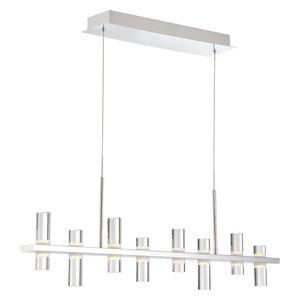 Netto LED Linear Chandelier, Chrome