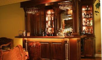 Lower levl Mahogany wet bar