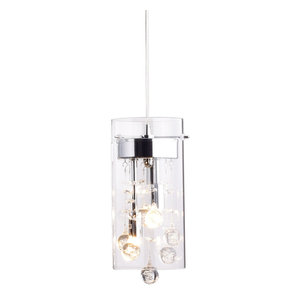 Glass and Crystal Pendant Lighting Modern Chandelier