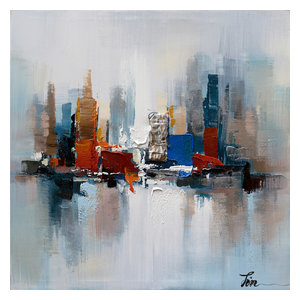 Romance I- Decor in Abstract Paintings, Modern Hand Painted Canvas Art