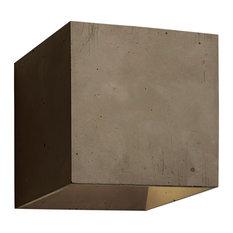 Cromia Concrete Wall Light, Brown