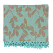 "Country & Floral Timora Throw, Rectangle, Mint, 50""x70"""