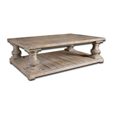 """Uttermost - """"Spring Creek"""" Pine Baluster Coffee Table - Coffee Tables"""