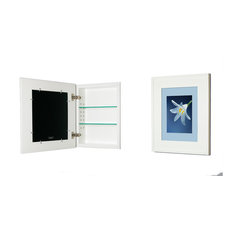 """Concealed Picture Frame Medicine Cabinet, White, 13 1/8""""x16"""""""