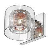 Copper Wall Light with Glass Shades Visconte Dijon 1 Light Chrome