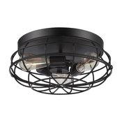 Industrial Style Black Flush Mount Kitchen Island Ceiling Light