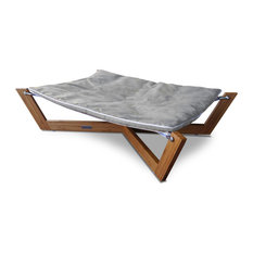 Pet Lounge Studios   Bambu Cross Hammock, Graphite Gray   Dog Beds