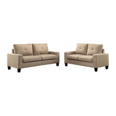 71-inch Beige Linen Platinum Sofa And Loveseat