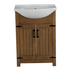 Residence Maddox Single Sink Por Vanity Weathered Brown 24 Bathroom