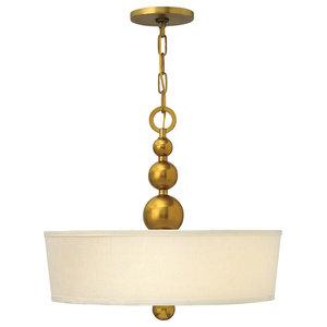Zelda Modern 3-Light Pendant, Vintage Brass
