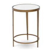 Roundabout Drink Table, Charcoal, Glass