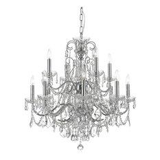 Italian chandeliers houzz crystorama lighting crystorama imperial 12 light italian crystal chrome chandelier chandeliers aloadofball Gallery