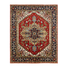 UMBRIA Hand Made Wool Area Rug, Multi-color, 8'x10'