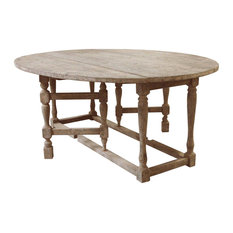 - Swedish Gustavian Gray Oval Gate Leg Drop Leaf Dining Table - Dining Tables