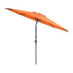 CorLiving UV and Wind Resistant Tilting Patio Umbrella in Orange