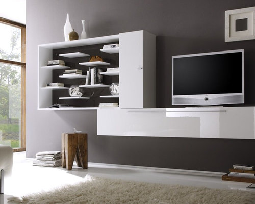 Modern Wall Unit TV Media Entertainment Center Jazz Composition 3    $1,083.00   Entertainment Centers And