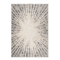 """Palmetto Living by Orian Mystical Starburst Ivory Area Rug, 5'3""""x7'6"""""""