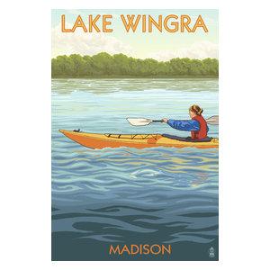 Holiday Magic On Lake Wingra Pickup >> Wisconsin Lake Mendota Sailboat Scratchboard Print Beach Style