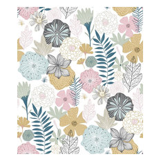 Perennial Blooms Peel and Stick Wallpaper, Yard