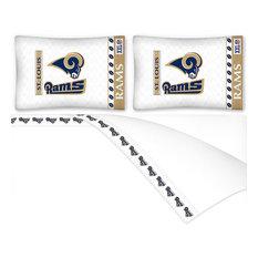 NFL St Louis Rams Football Full Bed Sheet Set