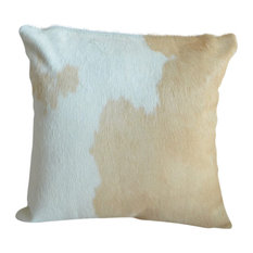 Pergamino Palomino and White Cowhide Pillows, Single Sided