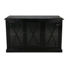 Nicoline 3 Door Sideboard Black