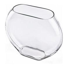 Oval Vase, Moon Shape Glass Vase