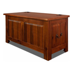 Contemporary Storage Chest in Dark Brown Finished Acacia Wood, Great for Storage