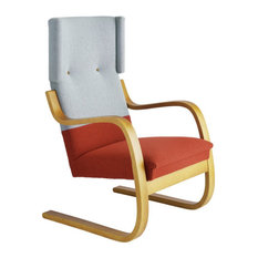 Armchair 401 Pale Blue 722 Red Honey Stained
