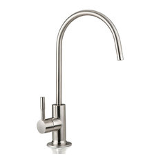 "iSpring 6.5""x11"" 14oz Solid Brass Water Filter Faucet, Brushed Nickel"