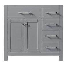 "36"" Single Bathroom Vanity Base, Taupe Gray"
