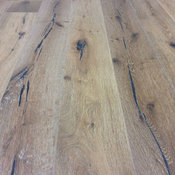 """Wire Brushed, Smooth Fardella White Oak , 7.5"""" Wide Wood Flooring"""