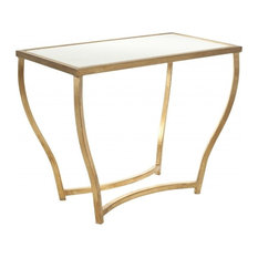 Safavieh   Safavieh Rex Accent Table, White, Gold Legs   Side Tables And End