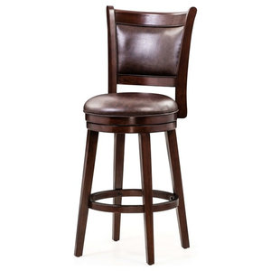 Lyman Swivel Stool Transitional Bar Stools And Counter