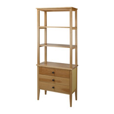 American Trails Edison Bookcase With Drawers With Solid American Maple