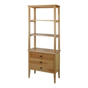 Emerson 4 Drawer 4 Shelf Standard Bookcase Industrial