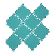 """12""""x13"""" Arabesque Collection, Set of 11, Teal"""