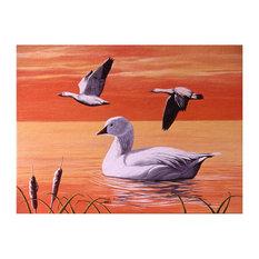 """Mike Bennett Snow Geese Art Print, 9""""x12"""""""